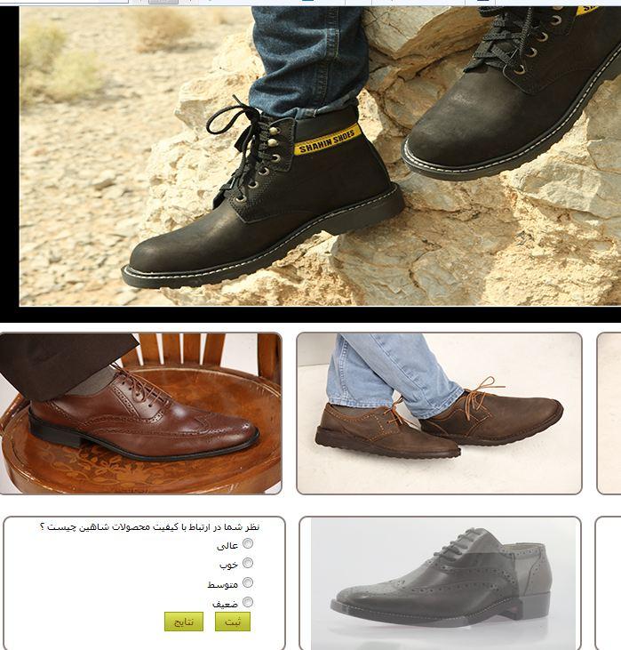طراحی سایت کفش شاهین