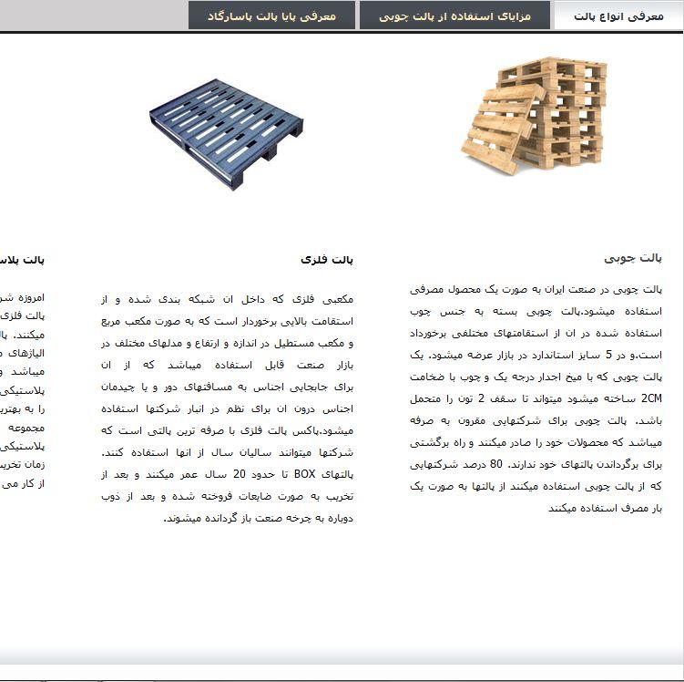 طراحی سایت پاسارگاد پالت